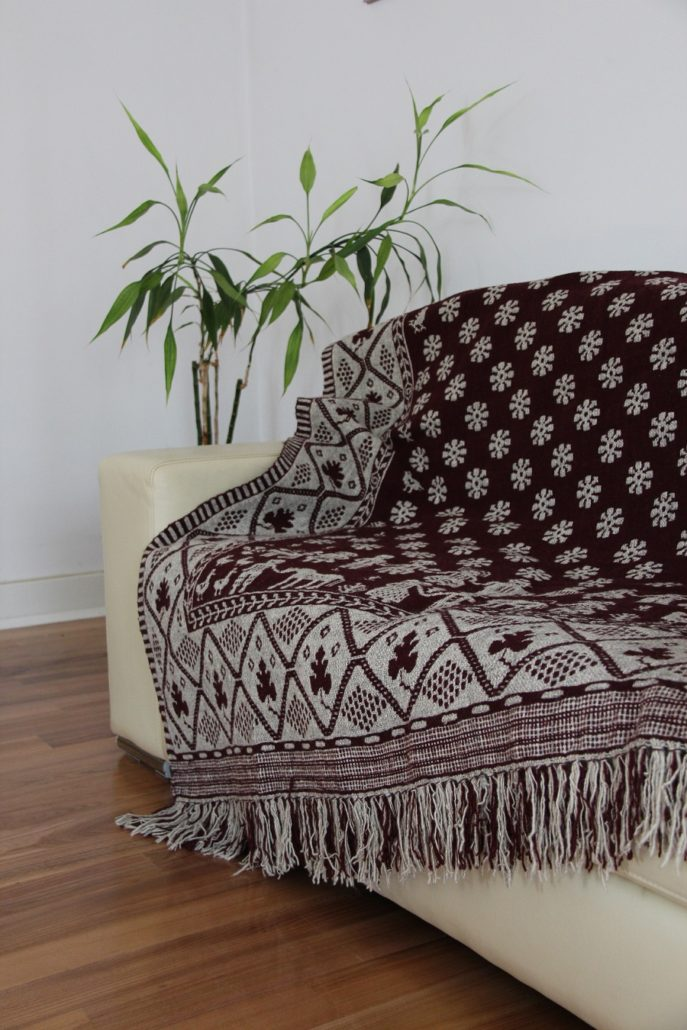Decorative fabric as a sofa cover