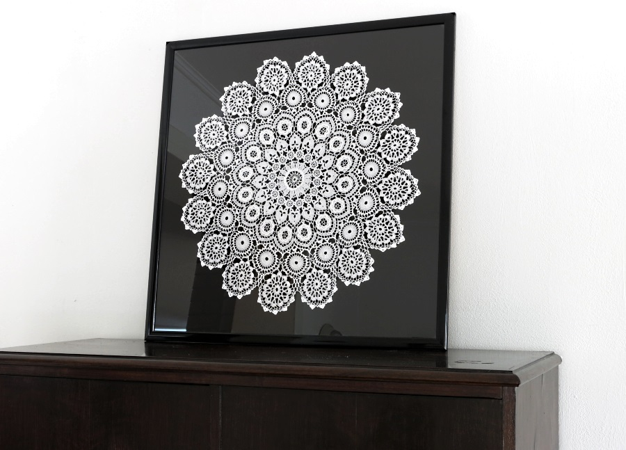 framed cognac lace - an example of apersonalized gift