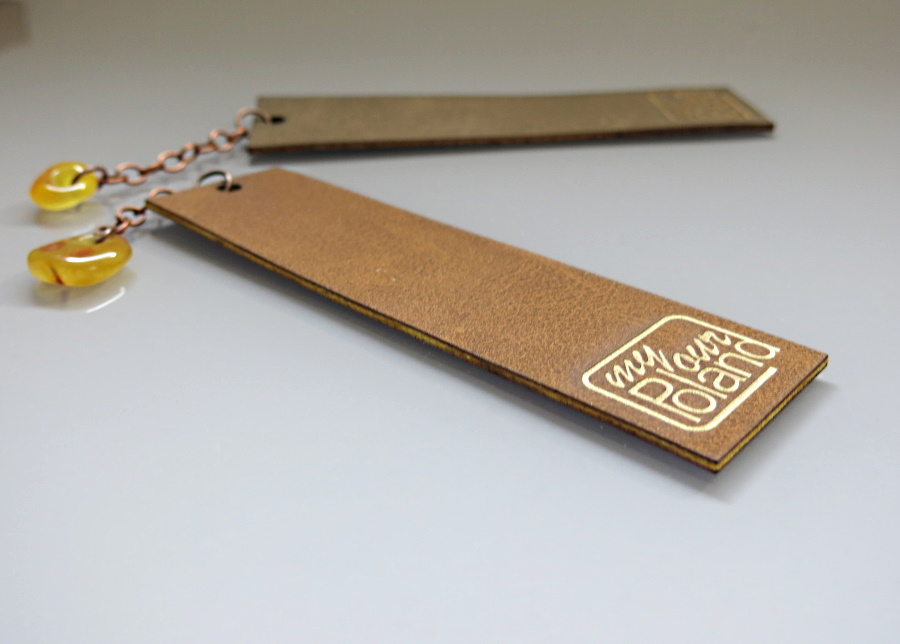 bookmarks – anatural Baltic amber and ecological leather